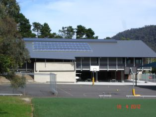Panels on school hall