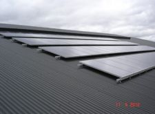 School roof solar panels